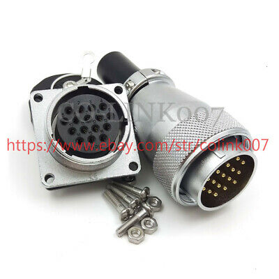 Ws28 16pin Connector High Voltage Industrial Power Cable Plug Socket Solder 10a