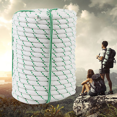 """1/2"""" 125ft Double Braid Rope 8400Lbs BREAKING STRENGTH Safe Climbing Tree Rock W"""
