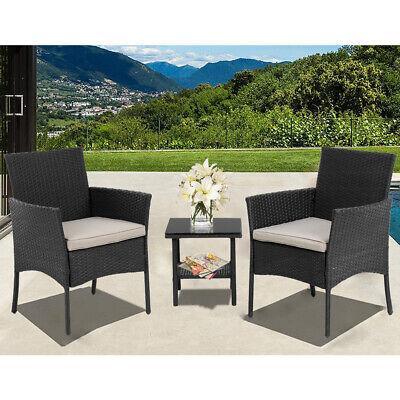 Patio Furniture Sets 3 Pieces Outdoor Bistro Set Rattan Chairs Wicker - Outdoor Wicker Patio Sets