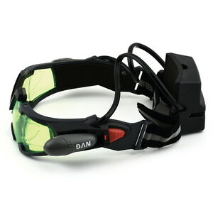 Green Lens Adjustable Elastic Band Night Vision Goggles Glasses eyeshield  OK