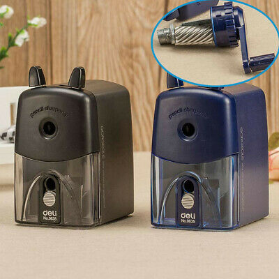 Hand-crank Pencil Sharpener Mechanical Steel Knife Office Students Stationery W