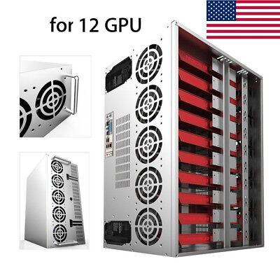 New Open Air Bitcoin Mining Frame Rig Miner Case For 12 Gpu Eth Btc Ethereum Usa