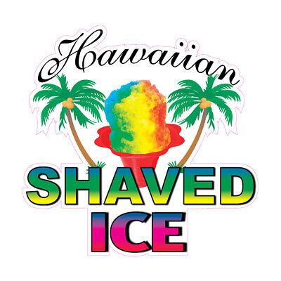 Hawaiian Shaved Ice Concession Restaurant Food Truck Die-cut Vinyl Sticker