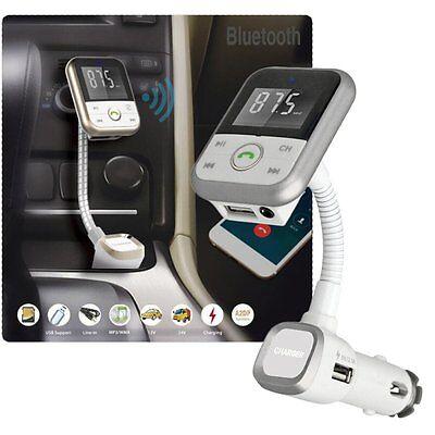 Bluetooth 4.0 Auto FM Transmitter Freisprechanlage MP3 Player USB Ladegerät SD