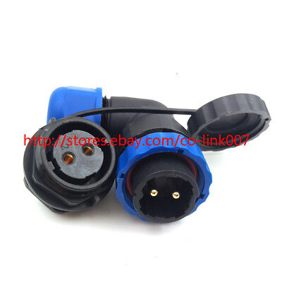 Sd20. Ip67 2pin Waterproof Connector Industrial Bulkhead Power Cable Connector