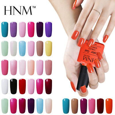 Soak Off UV LED Colour Nail Gel Polish Manicure Base Top Coat Nail Art 8ml HNM