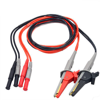 Lcr Meter Test Leads Lead Terminal Kelvin Clip Wires For Ut612 Ut611 Zb-lc02