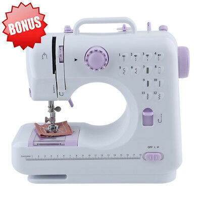 12 Stitches Electric Portable Desktop Sewing Machine Handheld Household Sewing M