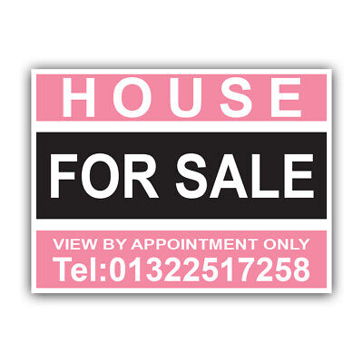 House For Sale Personalised PROPERTY Residential Estate Agent Sign Boards x 2 27