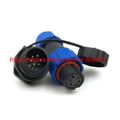 Sd13 6pin Waterproof Connector Ip68 High-voltage Power Connector Aviation Plug