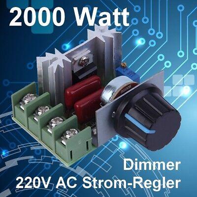 230V 2000W AC - Dimmer / Drehzahlregler / Strom-Regler
