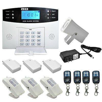 Wireless LCD GSM SMS Burglar Fire Alarm System Auto Dialer Home Security Safe AL