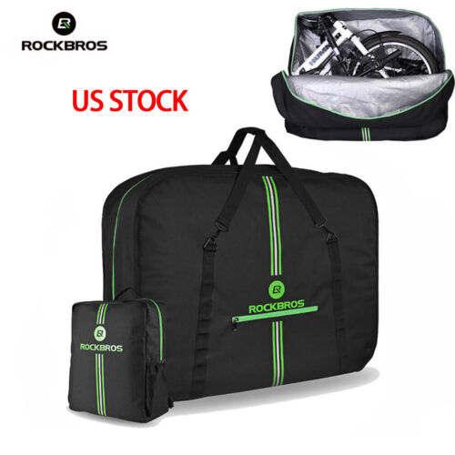 ROCKBROS Folding Bike Carrier Bags With Storage Bag High Capacity Easy Carry Bag
