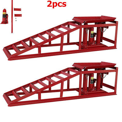 2XPKW Auffahrrampe Rampe höhenverstellbar KFZ Wagenheber 2000kg Tragkraft ZL