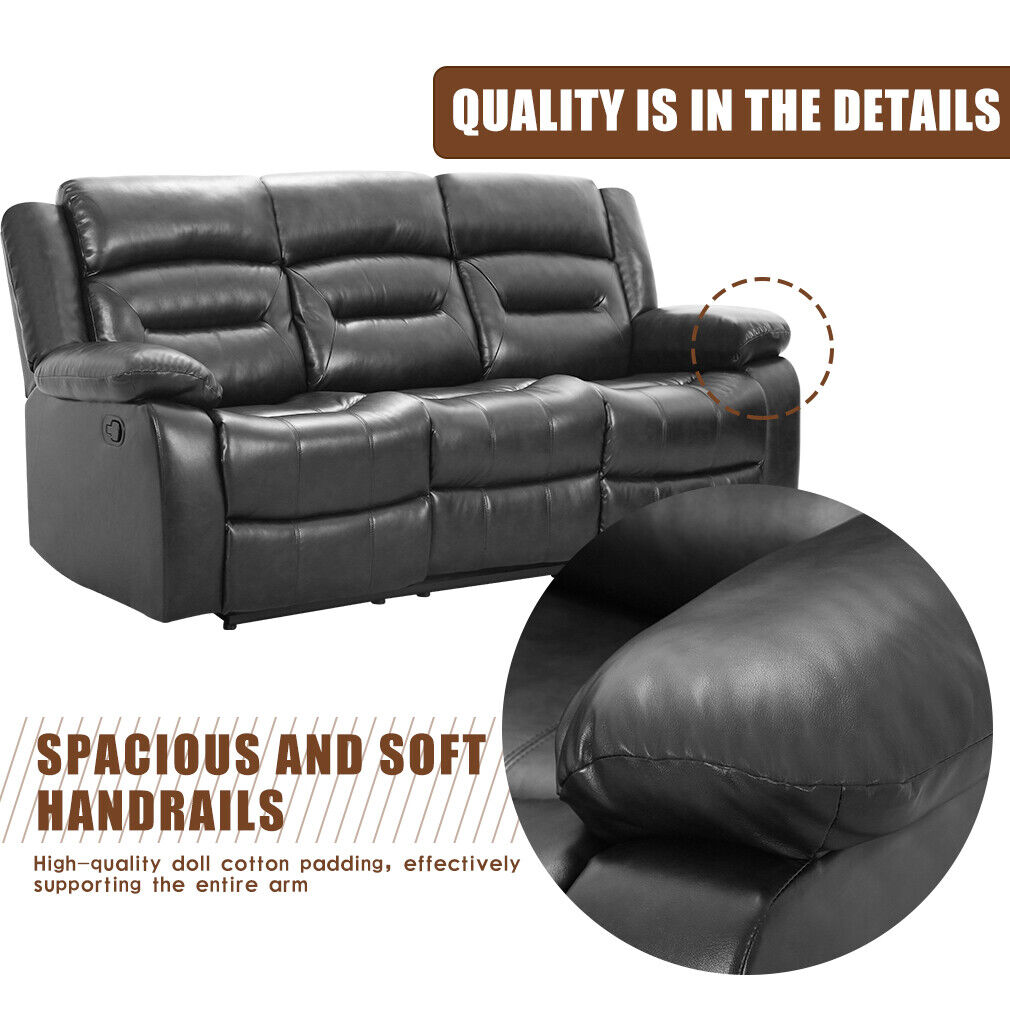Recliner Sofa Set 3 seater Home Theater Seating Reclining Couch Sofa for Living Furniture