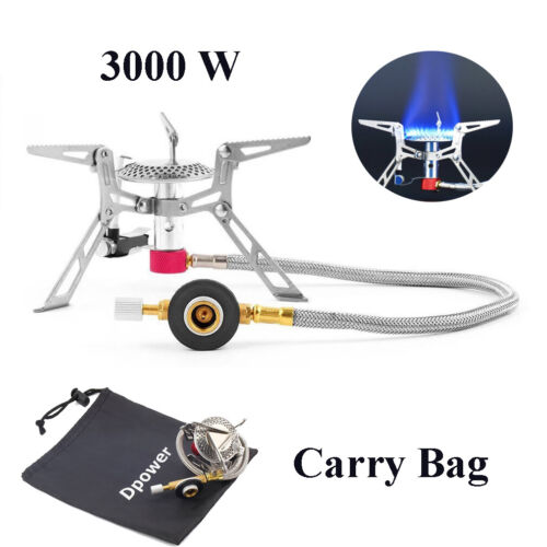 3000W Portable Gas-Burner Fishing Outdoor Cooking Camping Picnic Cook Stove