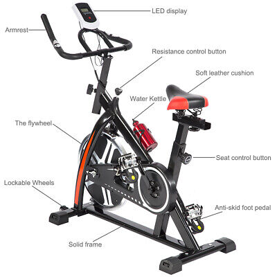 Black Bicycle Cycling Fitness Exercise Stationary Bike Cardio Home Indoor 508 Cardio Equipment