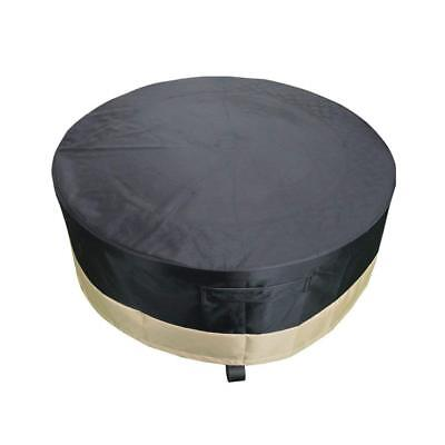 36 Inch Full Coverage Round Fire Pit Cover, Black -