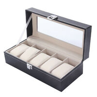 5 Grid Watches Display Case Jewelry Collection Storage Organizer Boxes Sw -  - ebay.it