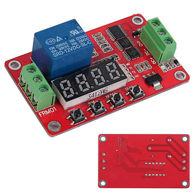 Upgraded Self-lock Relay Plc Cycle Timer Module Delay Time Switch- Version 2.0
