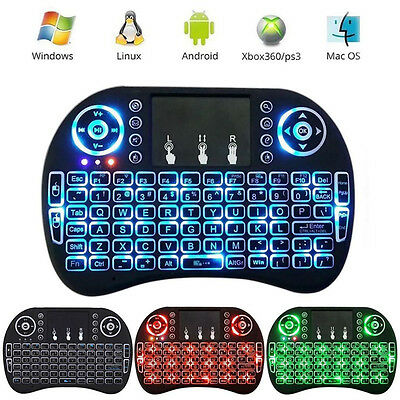 2.4G Backlit Wireless Keyboard Touchpad Rechargeable for Smart TV Box Android PC (Tv Keyboard)