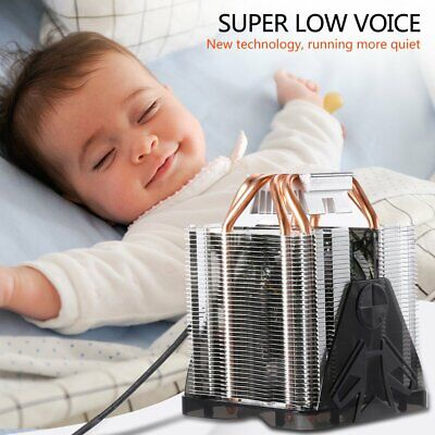 New LESHP CPU Cooler Ultra Quiet with 90mm Fan Four Pure Copper Heat Pipes USA