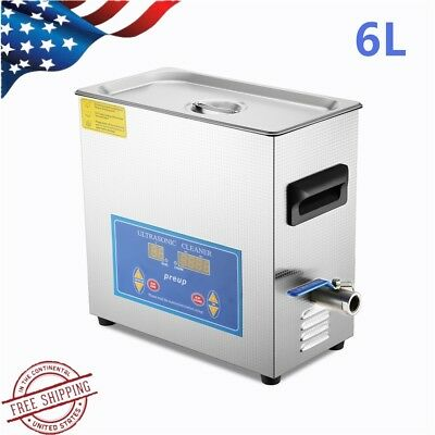 6l Stainless Steel Digital Industry Heated Ultrasonic Cleaner Heater Wtimer Usa