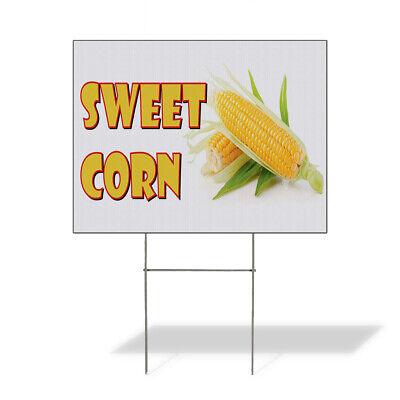 Weatherproof Yard Sign Sweet Corn Restaurant Cafe Bar E White Lawn Garden