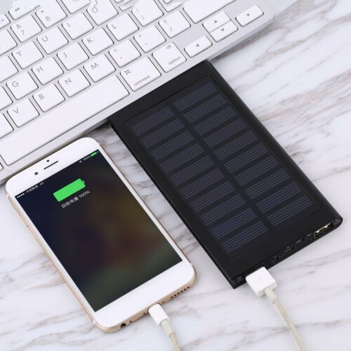 Waterproof 300000mAh Portable Solar Panel Charger Dual USB Battery Power Bank EP