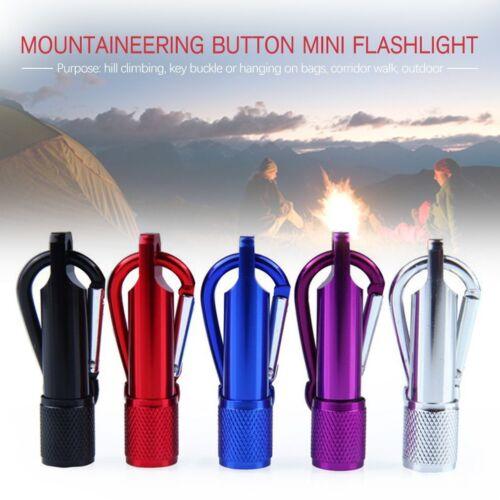Mini LED Torch Flashlight Camping small Compact portable Keyring carabiner Hook