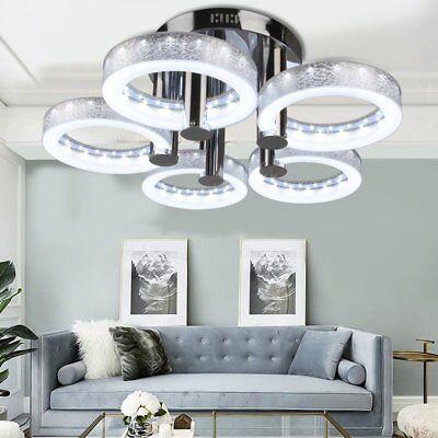 European Modern Round Acrylic Chandelier Ceiling Pendant Light+5*18W LED Lamp MA