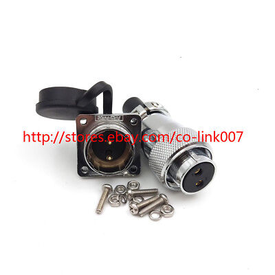 Ws20 2pin Waterproof Connector High Voltage Power Cable Connector Bulkhead Plug