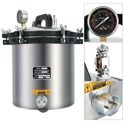 Us Professional 18 Liter Steam Autoclave Sterilizer Tattoo Dental Lab Equipment