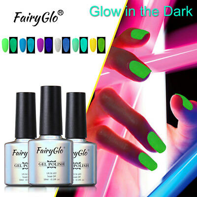 FairyGlo UV LED Gel Nail Polish Soak Off Manicure Glow-in-the-Dark Manicure (Glow In The Dark Gel Nail Polish)