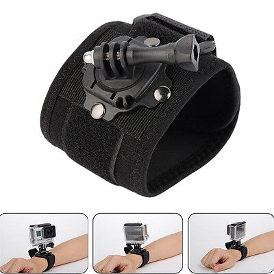 360 Degree Rotation Wrist Hand Strap Band Holder W/Mount For GoPro 2 3 3+ 4 AT