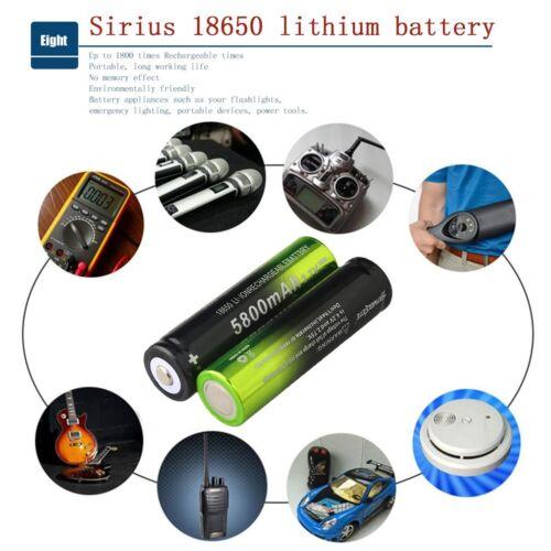 Skywolfeye 5800mAh Li-ion Rechargeable 18650 Battery for High Drain Devices XP