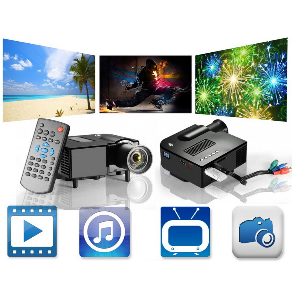 Full Hd 1080p Home Theater Led Mini Multimedia Projector