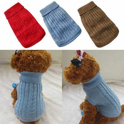 Small Dog Clothes Pet Winter Sweater Knitwear Puppy Clothing Warm +Get 1Tie same