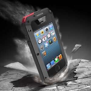 Metall Handy Tasche Schutzhülle f. iPhone 5SE/5S/5 Hülle Case Cover Wasserdicht