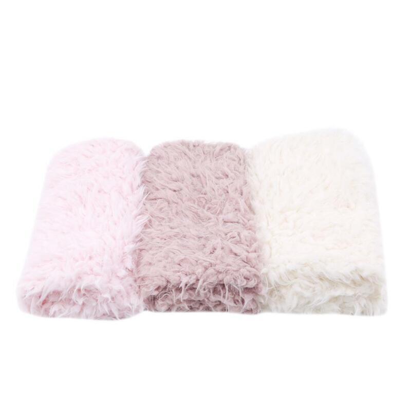 Baby Photo Props Backdrop Newborn Photography Soft Fur Quilt Mat Blanket H