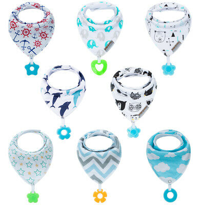 Baby Bandana Bibs Set 8-Pack Super Teething Absurbent Drool 100% Organic Cotton Organic Baby Bib