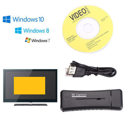 USB 2.0 HD 1080P HDMI Video Capture VGA Card For PC Windows XP/Vista/ FREE - Free Usb Video Capture