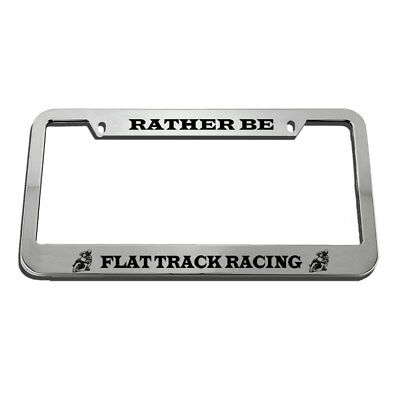 I/'D RATHER BE PLAYING HOCKEY Metal License Plate Frame Tag Holder Two Holes