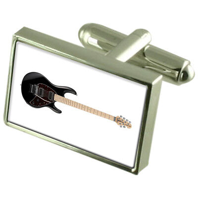 Electric Guitar Sterling Silver 925 Cufflinks Boxed
