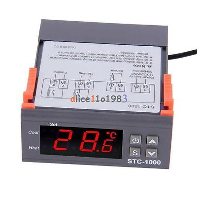 Digital Stc-1000 All-purpose Temperature Controller Thermostat With Sensor