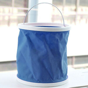 Folding Collapsible Bucket Barrel Water Container Car Washing Outdoor Use SN