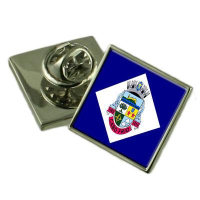 Cabo Frio City Rio De Janeiro State Flag Lapel Pin Engraved Box