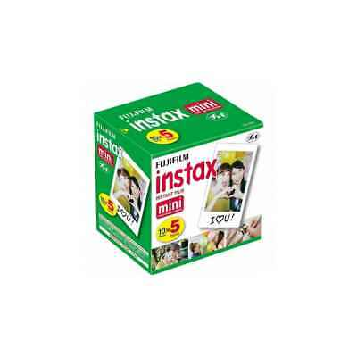 Fujifilm INSTAX MINI 10 x 5 pellicole 50 Foto istantanee