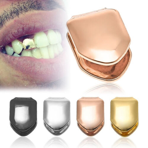 Gold HIP HOP Single Metal Hip Hop Teeth Braces Tooth Cover P