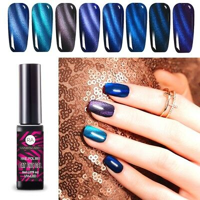 8ml Soak Off UV LED Cat Eye Magnet Nagellack Chamäleon Maniküre Tipps Gel 2019